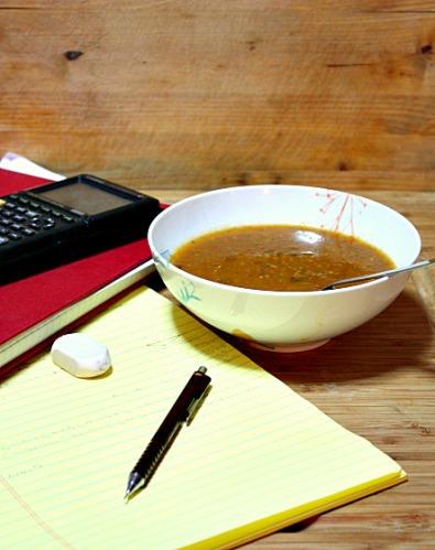 sopa de legumes assados